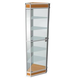 Угловые терминалы при шкафе со стеклом.